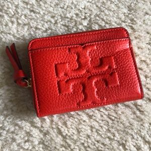 Tory Burch Bombe-T Zip Coin Case